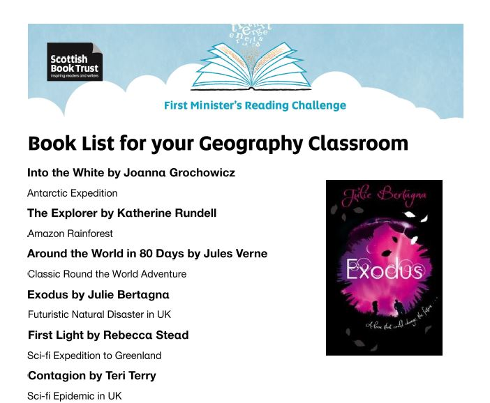 Book List Geography Classroom