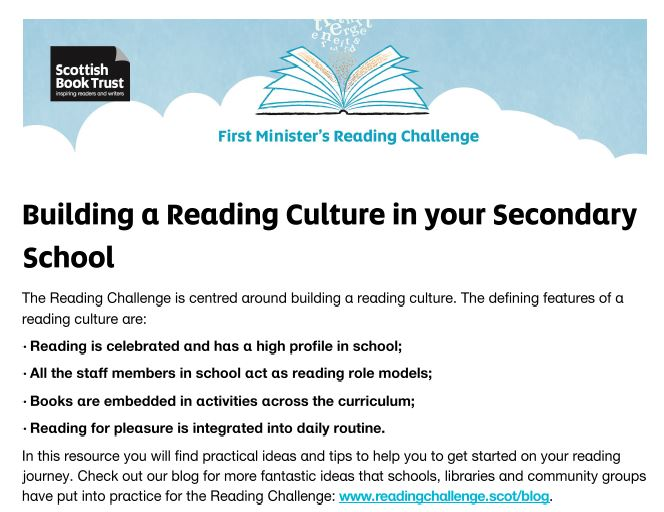 Reading Culture Secondary