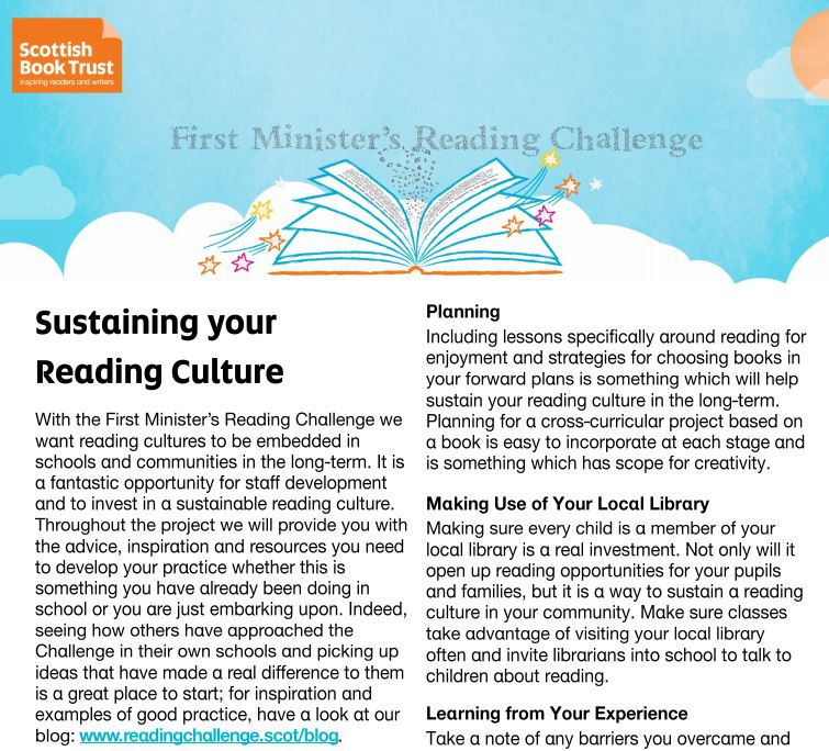 Sustaining your reading culture