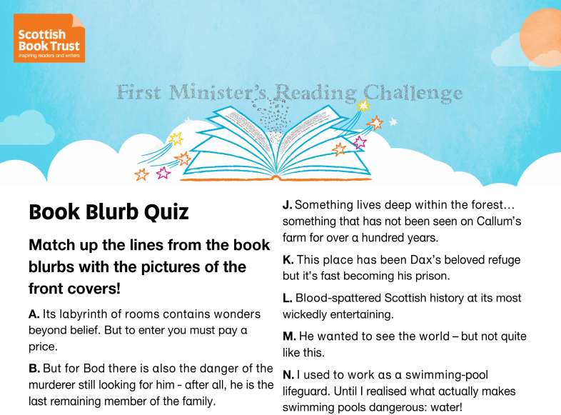 Book Blurb Quiz - Middle/Upper Primary