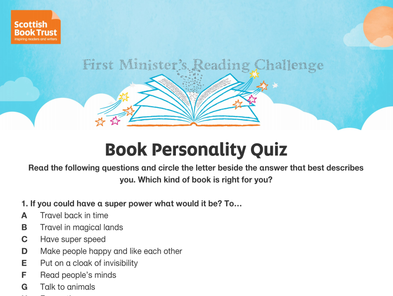 Book Personality Quiz (Powerpoint)