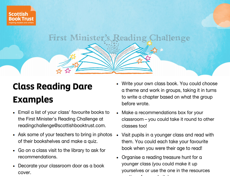 Class Reading Dares