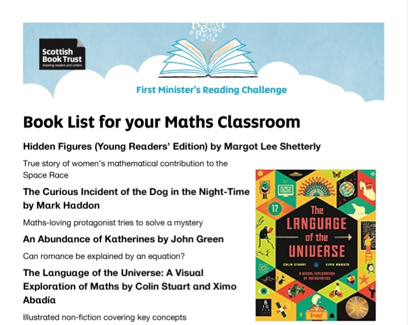 Book list for your Maths classroom