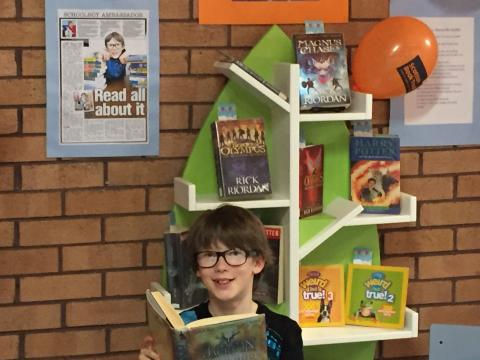 Luke at Largs Library