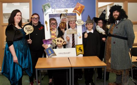 Pupils on World Book Day - credit Phil Harman
