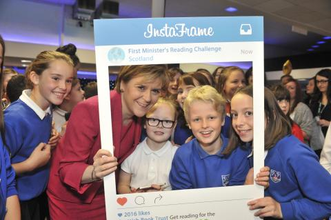 First Minister at  Reading Challenge Celebration Event