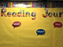 Reading Journey bulletin board display